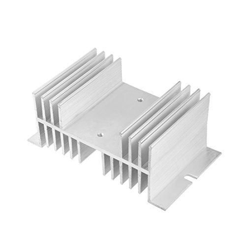 sourcing map Aluminium Kühlkörper SSR Dissipation für Einphasen Halbleiterrelais 10A-100A DE de