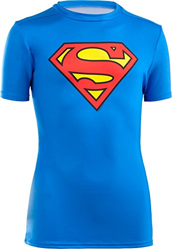 Under Armour Jungen Fitness T-Shirt und Tank UA Alter Ego Baselayer Superman Shirts & Tanks, RYL/Red, M