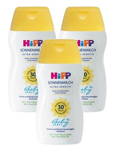HiPP Babysanft Sonnenmilch, 3er Pack (3 x 50ml)