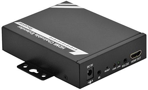 DIGITUS Professional DS-55201 - HDMI über Netzwerk-Extender / -Splitter - IP-fähig - Cat 5e, Cat 6 - kaskadierbar - Empfängereinheit für DS-53200 / DS-55200 - schwarz