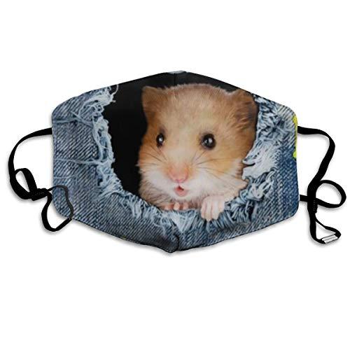 Homect Jeans-Maske für Hamster, Unisex, Vollabdeckung, Bandanas mit UV-Schutz, Halstuch
