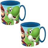 Super Mario – Juego de 2 vasos para zumo – Mario – Yoshi