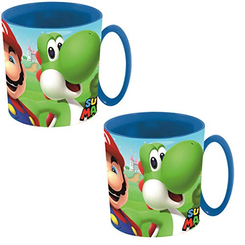 Super Mario Yoshi - Juego de 2 tazas, diseño de Super Mario