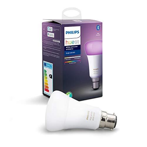 Philips Hue LED-Leuchtmittel, Weiß & Color Ambiance B22, kompatibel mit Bluetooth und Alexa