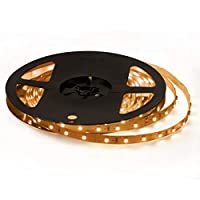 Signcomplex 12V 超高輝度 LEDテープライト 5M/300連 LED ストリップライト 正面発光 強力粘着両面テープ LEDチップSMD3528 LEDライト クリスマス飾り 広く 展示会、 舞台、家庭装飾用 電球色 非防水