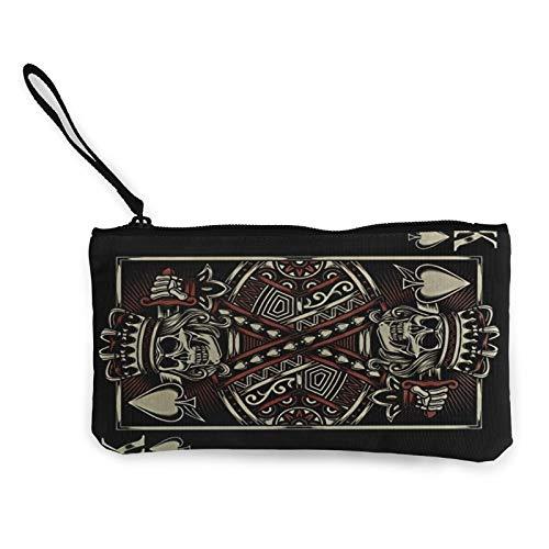 Moneda de lona, 1 monedero con cremallera, bolsa de cosméticos de viaje, multifunción, bolsa de maquillaje, bolsa de teléfono móvil, paquete de lápices con asa
