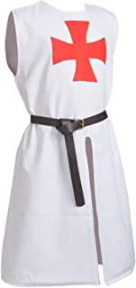 BLESSUME Medieval Templar Knight Tunic