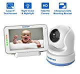 CasaCam BM200 Video Baby Monitor with 5' Touchscreen and HD Pan & Tilt Camera, Two Way Audio, Lullabies, Nightlight, Automatic Night Vision and Temperature Monitoring Capability