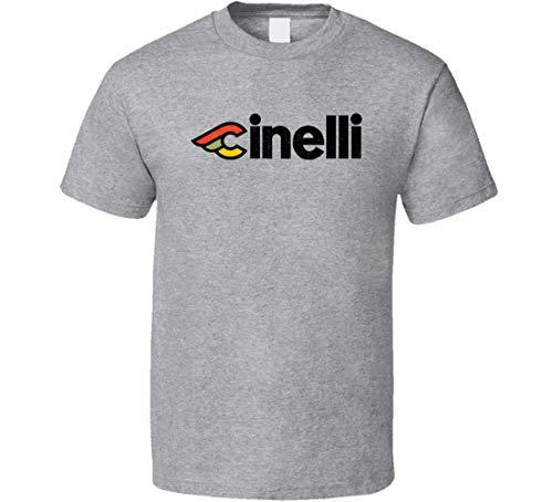 N/Y Cinelli Fahrrad-T-Shirt im Vintage-Look, Grau Gr. XXL, Schwarz