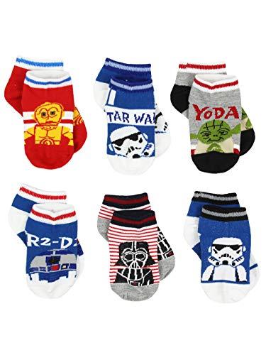 Star Wars Toddler Boys 6 pack Socks (2T-4T Toddler/Shoe: 4-7, Multi)