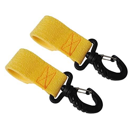 Paddle Clips Nylon Kayak Canoa Paddle Strap Strap Soporte de la Barra de la Pesca Soporte de Paleta Sin perforación (par) (Color : Yellow)