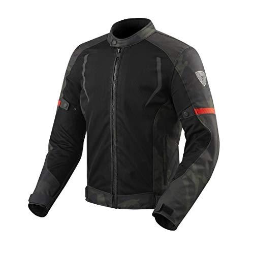 Revit Torque Motorcycle Jacket Black-Army Green, L