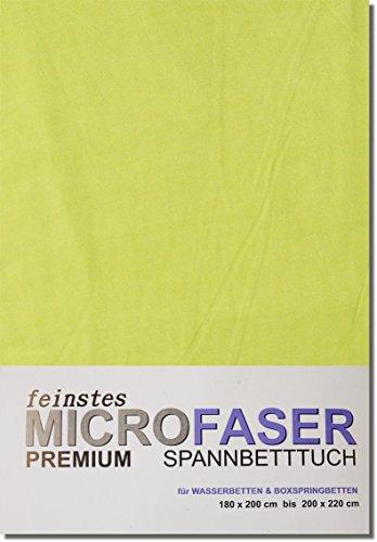Wasserbetten1a Spannbettlaken Tuch Laken Spannbetttuch Microfaser WASSERBETT Box Spring Bett 180 x 200-200 x 220 cm (LIND)