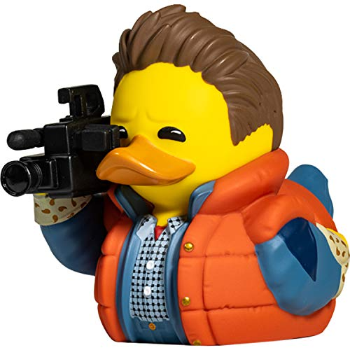 * NEW * Marty McFly Rubber Duck Figurine. Yes, it's a duck dressed like Marty McFly in Back To The Future. You know you want one!