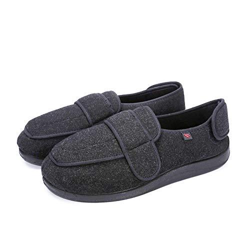 B/H Diabéticas Zapatos,Zapatos Ajustables para pie diabético, Zapatos para hinchazón del pie, Zapatos de rehabilitación-Gris_38,Zapatos diabéticas Ajustables