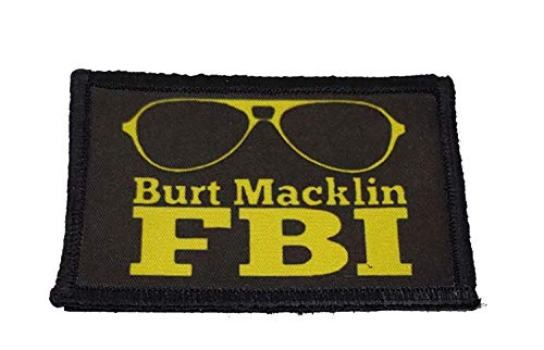 """Burt Macklin FBI Morale Patch Made in The USA! 2x3"""" Hook and Loop"""