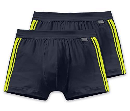 Schiesser Herren Shorts 2er Pack, Schwarz (blauschwarz 001), Small (Herstellergröße: 004)