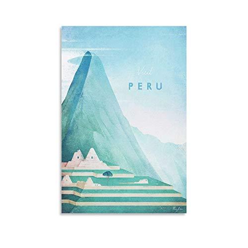 DHFW Peru Poster Henry Rivers Poster dekorative Malerei Leinwand Wandkunst Wohnzimmer Poster Schlafzimmer Malerei 20x30inch(50x75cm)