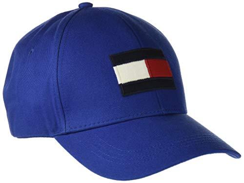 Tommy Hilfiger Herren Big Flag Baseball Cap, Blau (Monaco Blue 411), One Size (Herstellergröße: OS)