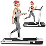 ANCHEER Treadmill,Folding Treadmill for Home Workout,Electric Walking Under Desk Treadmill with APP Control, Portable Exercise Walking Jogging Running Machine (Silver)