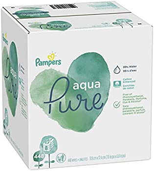 448-Count Pampers Aqua Pure Sensitive Water Baby Diaper Wipes