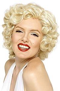 Smiffy's-42207 Licenciado Oficialmente Peluca de Marilyn Monroe, Corta, Color Rubio, Tamaño único (42207)