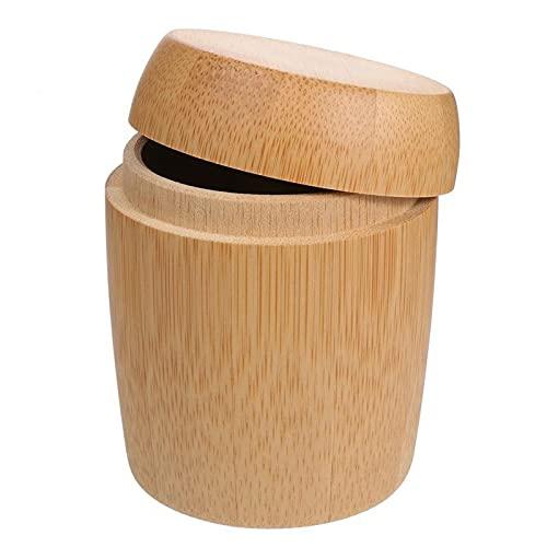 Meijin Boîte à cotons-tiges multifonction en bambou résistant à la poussière pour cotons-tiges