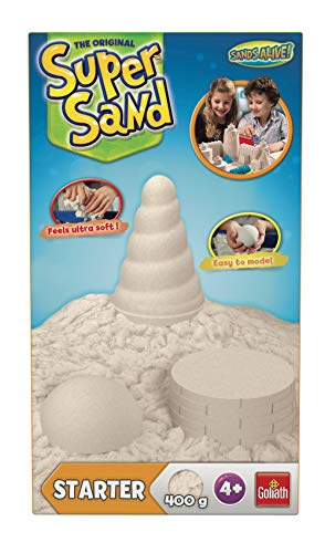 Goliath 83210 | Super-Sand Starter-Set | magischer Super Sand für Sandburgen im Kinderzimmer | kreative Sandbauwerke | faszinierender Spielsand für Klein und Groß | ab 4 Jahren