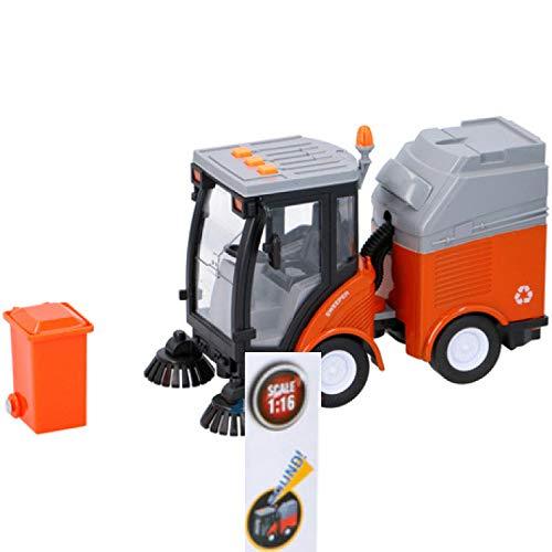 Dokado Kehrmaschine Kinder Spielzeug Müllabfuhr Auto Spielzeugauto Kehrauto Kehrer