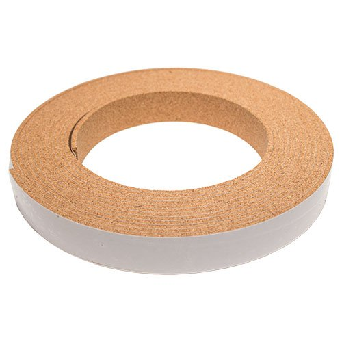 CORK STRIPPING WITH ADHESIVE - 1/8IN THICK X 1IN WIDE X 20FT LONG