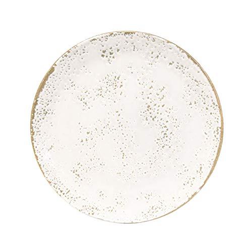 Churchill Umbría Blanca Plato - Modern Contemporary Gres Herramientas de Cocina Vajilla - 26cm - Blanco