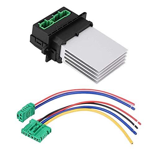 Lyjun Calentador Resistor Blower + Conector/Conector 6441.l2 Fit for Renault Fit para Citroen C2 C3 C5 Fit para Peugeot 406 107 207 607 7701207718 7701048390 7701048390
