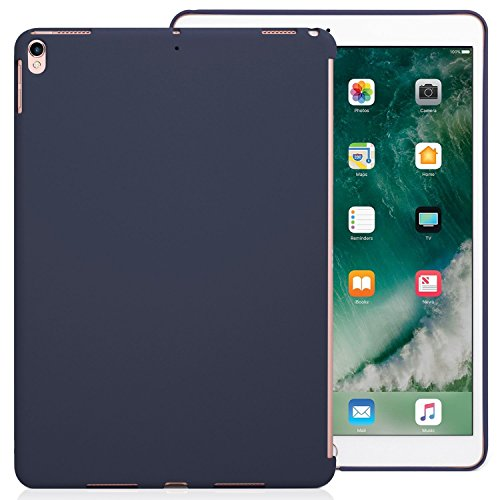 KHOMO iPad Air 3 10.5 (2019) / iPad Pro 10.5 (2017) Rückseite Abdeckung Hülle Hülle Schutzhülle Kompatibel mit Smart Cover & Testatur - Dunkelblau