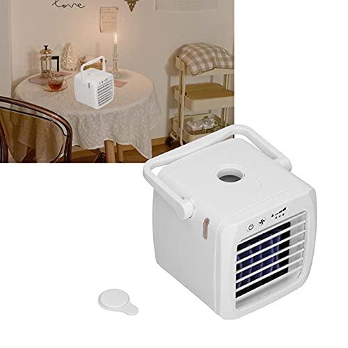 SHYEKYO Ventilador del refrigerador de Aire, Ventilador del humidificador 3 en 1 para el Dormitorio del hogar de la Oficina del automóvil