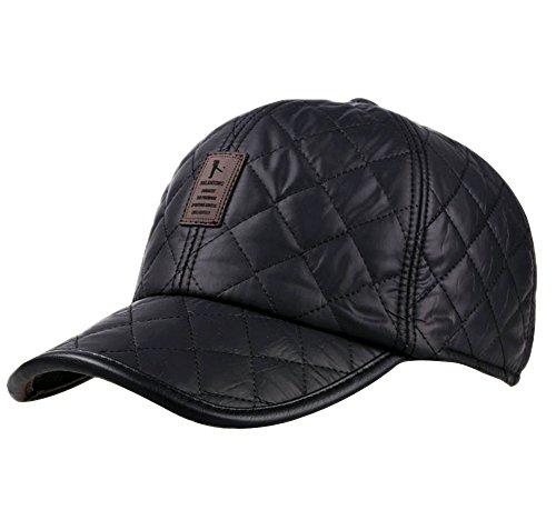 Gorra de Béisbol Ajustable por Hombre Mujer in Invierno al Aire Libre Deport Sombrero Espeso Cálido Gorros con Orejera