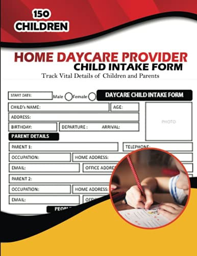 Top 10 best selling list for daycare forms