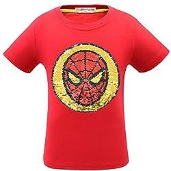 1syzuho Superhero Flash Flip Sequin T-Shirt