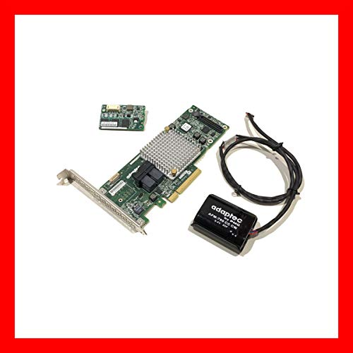 Adaptec Microsemi ASR 8805 2277500 R RAID HBA Card Storage Controller SATA SAS 12 Gbps with Cache Flash and Battery Backup Unit