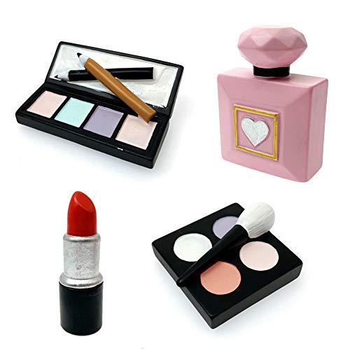 MEMOVAN Makeup Cake Topper 4 Pack, …