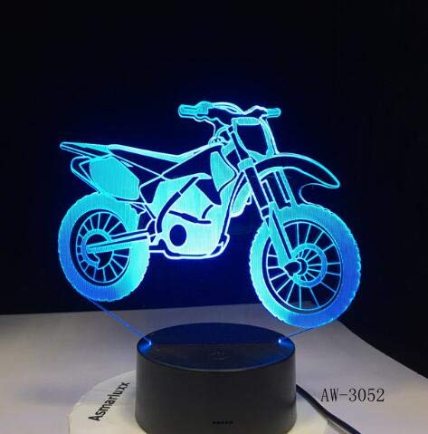 3D Table Lamp Motor Sport Car F1 Speed Racing Motorcycle Limousine Tractor USB Night Light Christmas Kids Gift Decor