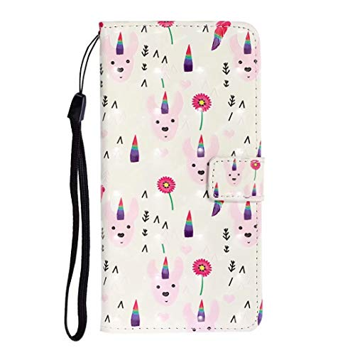 Hülle Case für Xiaomi Redmi Note 8 Handyhülle Flip Case PU Lederhülle Schutzhülle Magnetverschluss Ledertasche mit Stander Function Brieftasche Tasche für Xiaomi Redmi Note 8 Farbiges Tierhorn
