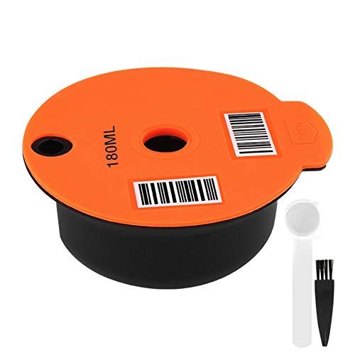 FLAMEER Waschbar Nachfüllbare Kaffee Kapsel für Bosch Tassimo Edelstahl Mesh, 2 Arten Verfügbar - 180ml