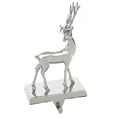 Kurt Adler Metal Deer Stocking Holder Seasonal Decor, 8.25-Inch