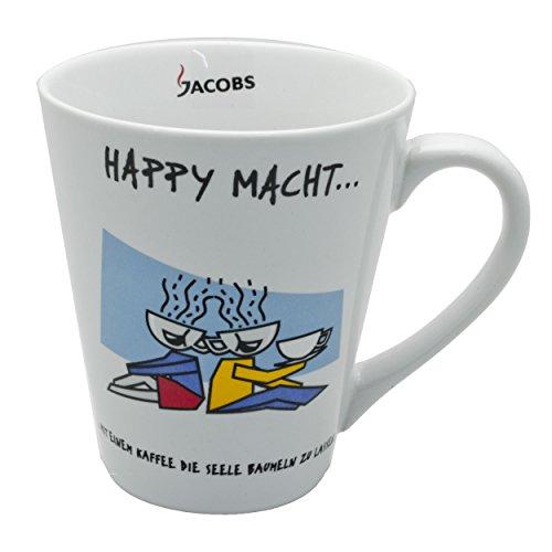 Jacobs Motiv-Tasse Seele, mit Schriftzug: Happy macht…, Becher, Kaffeetasse, 250ml