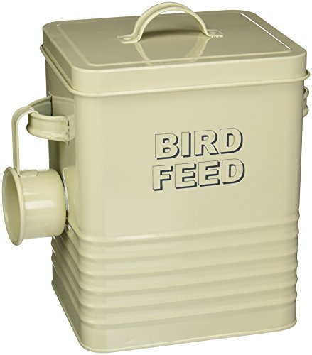 Lesser & Pavey Home Sweet Home Birdfeed Container, Cream, LP22897