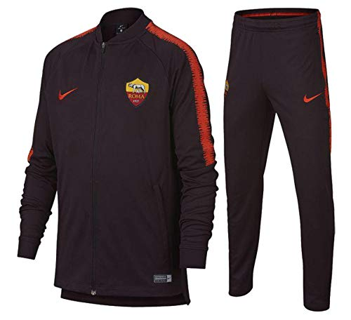Nike 2018-2019 AS Roma Dry Trainingspak (Bourgondië) - Kids