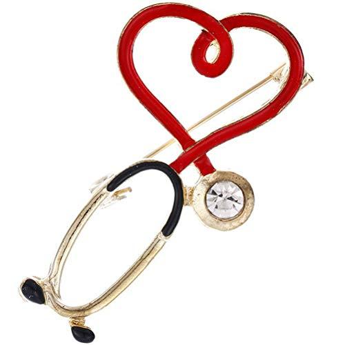 TeeFly Broche, Estetoscopio, Broche Creativo, Insignias, Accesorios de Ropa, alfileres Retro, joyería, Regalos de Enfermera para Hombres y Mujeres