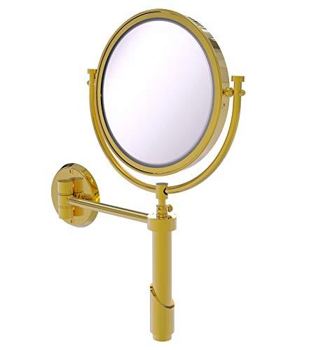 Allied Brass TRM-8/3X Tribecca Collection Applique Murale avec Miroir grossissant 3 x Laiton Poli 8 cm