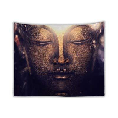 KHKJ Religión Cultura Tapiz de Pared Colgante Buda Alfombra de Pared Cabecera Dormitorio Hippie Tapiz Árbol Paisaje Boho Decoración A4 150x130cm