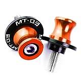 Xuefeng Motorcycle Sworkarm Spools Slider Stand Tornillo para Yamaha MT03 2007-2018 (Color : 6MM Orange)